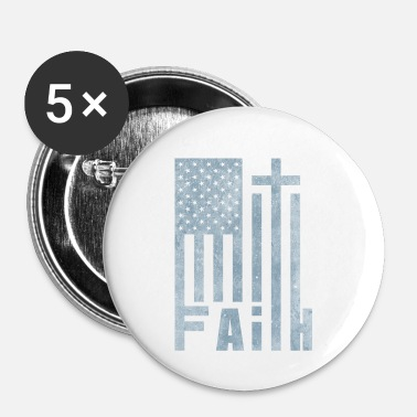 Freak America Flag Cross Faith | Dono del cristianesimo - Spilla piccola 25 mm