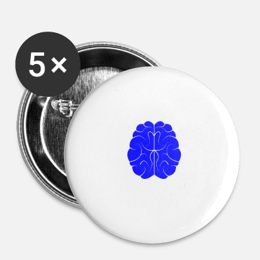 Morfar Brain Brain Funny Nerd Tabs Browser Developer - Små knappar 25 mm