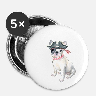 Bulldog Frenchie French Bulldog Pirate Hat perline Cani In - Spilla piccola 25 mm