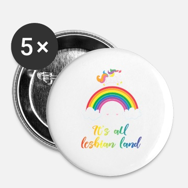 Gay LGBT gay gay unicorn - Buttons klein 25 mm