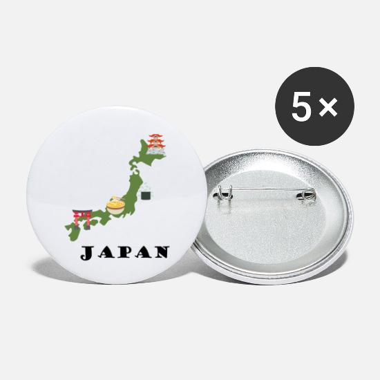 Kyoto Buttons & Anstecker - Japan - Buttons klein Weiß