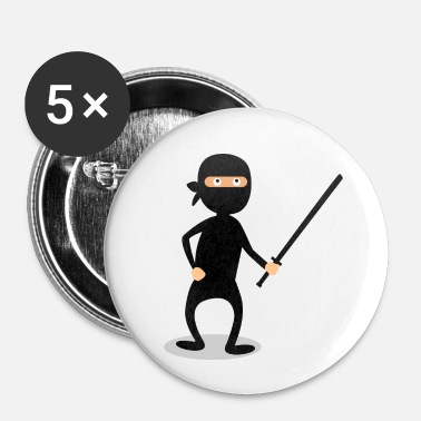 Ninjutsu Ninja Fighter Karaté Judo Art Martial Ninjutsu - Badge petit 25 mm