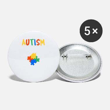 Autism Month Cute Autism Awareness Colorful - Small Buttons