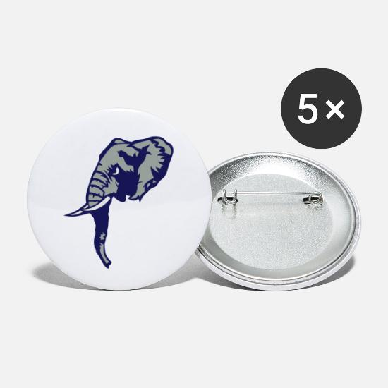 Face Buttons - elefant elephant trunk defense - Small Buttons white