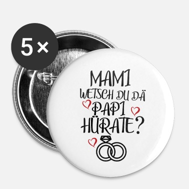 Gift gifte sig - Buttons/Badges lille, 25 mm