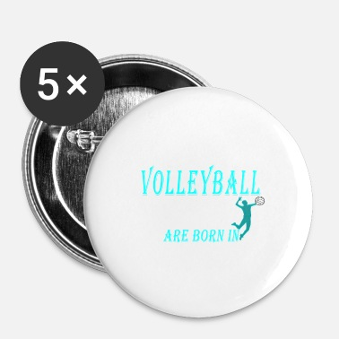 Avril Les légendes du volleyball naissent en avril - Badge petit 25 mm