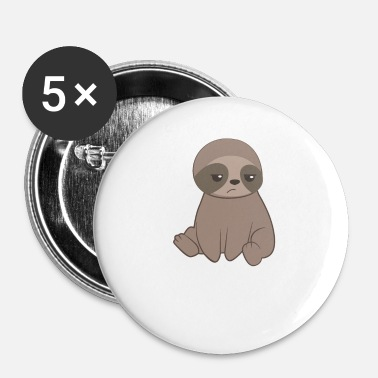 Sloth Sloth sloths - sloth fanatics - grammar - Buttons small 25 mm