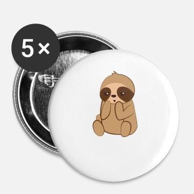 Sloth Sloth sloths - Sloth fan - Sarcasm - Buttons small 25 mm
