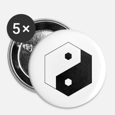 Taoismo Yin Yang Hexagon - Spilla piccola 25 mm
