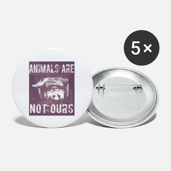 Animal Rights Activists Buttons - Animal Rights, Liberation, Animal Rights, Vegans - Small Buttons white
