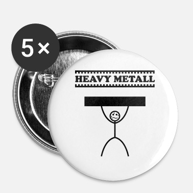 Metal Heavy Metal / Heavy Metal / Heavy Metal - Spilla piccola 25 mm