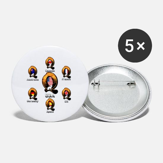 New World Order Buttons - Q army - Small Buttons white