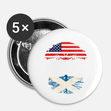 Scottish American Grown With Scottish Roots - Buttons small 25 mm