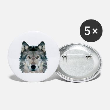 Clip Art Wolf Face Low Poly Design, Wolf Face Clip art - Small Buttons