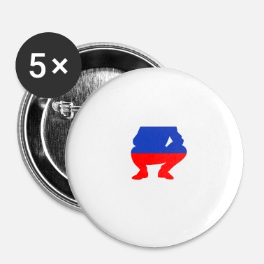 Russisk Russisk russisk russisk squat Rusland flag Russisk design - Buttons/Badges lille, 25 mm