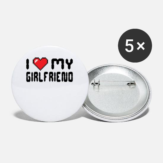 Girlfriend Buttons - I love my girlfriend's declaration of love - Small Buttons white