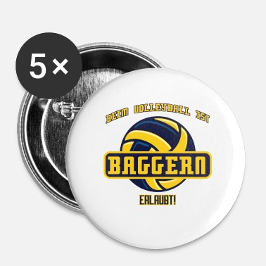 Grav Volleyball sport grave stave - Buttons/Badges lille, 25 mm