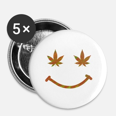 Ryger Weed Smile - Buttons/Badges lille, 25 mm
