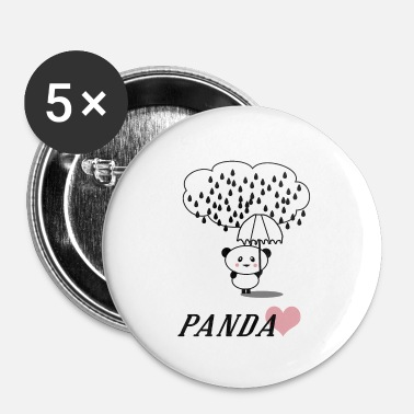 Regn Panda - Buttons/Badges lille, 25 mm