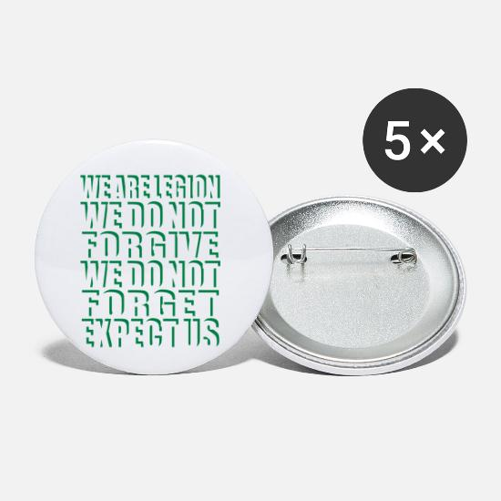 Message Badges - Anonymous Motto Stealthy - Petits badges blanc
