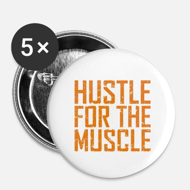Training Fitness Hustle Muscle - Badge petit 25 mm