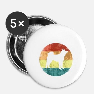 Addestramento Akita Inu Colours Logo Vintage Dog Love Gift - Spilla piccola 25 mm