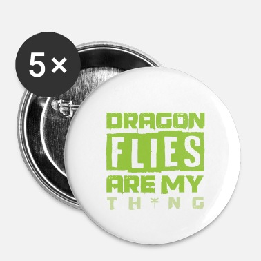 Dragonfly dragonfly - Buttons small 1''/25 mm (5-pack)