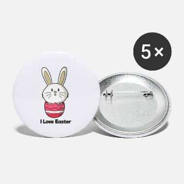 Easter Bunny I Love Easter Easter Bunny Easter Easter Bunny Bunny - Small Buttons