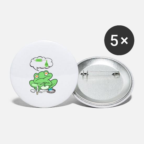 "Frog Prince Buttons - Frog ""Drugs"" - Small Buttons white"