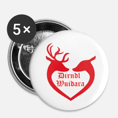 Dirndl Dirndl Wuidara - Buttons/Badges lille, 25 mm