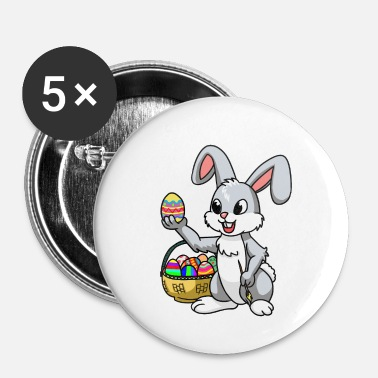 Kirke Easter Bunny Hare Animals KInder Fantasy Eggs Comic - Buttons/Badges lille, 25 mm
