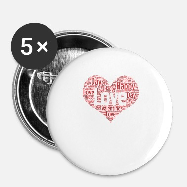 Valentines Day Valentines Day, Love, Heart, Happy Valentines Day - Buttons small 25 mm