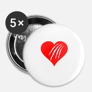 Trist Valentinsdag i kærlighed single heartache gave - Buttons/Badges lille, 25 mm