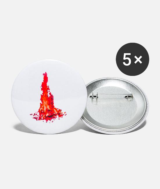 Love Buttons - campfire - Small Buttons white