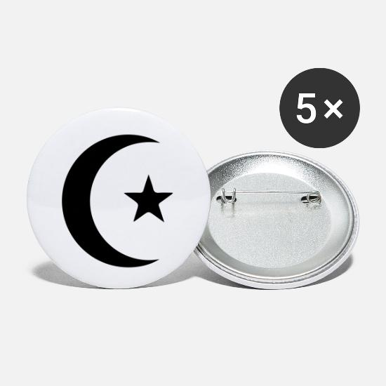Moon Buttons - star_and_crescent - Small Buttons white