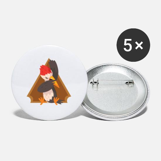 Children's Day Buttons - Funny pictures bird - Small Buttons white