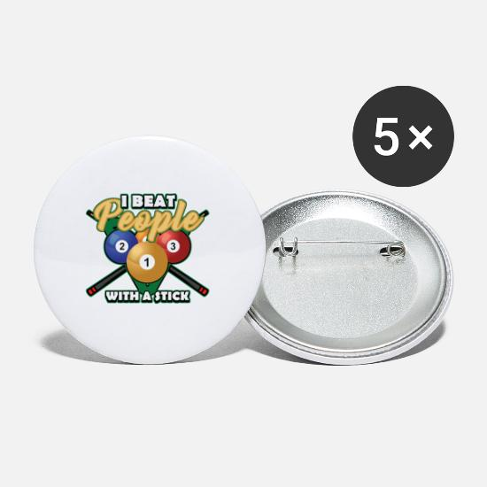 Sport De Bar Badges - Bâton de billard - Petits badges blanc