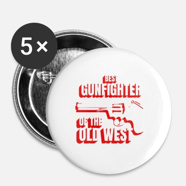 Collections Wild West Collection Bästa Gunfighter av Old West - Små knappar 25 mm (5-pack)