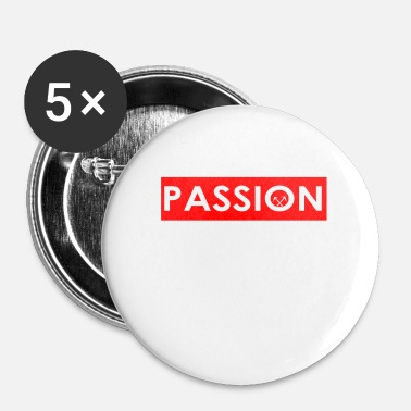Guld Roofer passion roering rod bar cirkel sym - Buttons/Badges lille, 25 mm (5-pack)