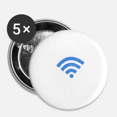 Mobiele Wifi Wifi For Life Internet Router Mobiele telefoon cadeau - Buttons klein 25 mm (5-pack)