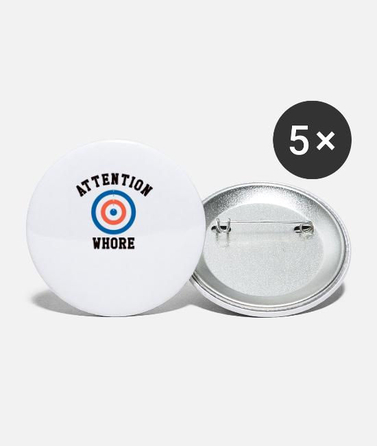 Adhd Buttons - Sarcastic Attention Whore Target - Small Buttons white
