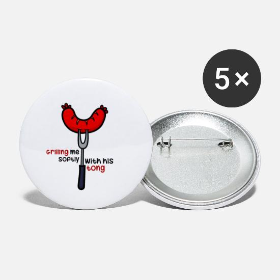 Bbq Buttons - grilling - Small Buttons white