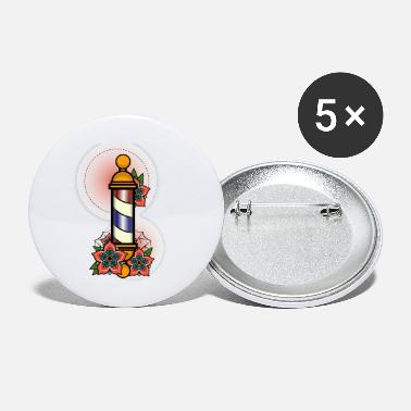 Poll Vintage Retro Barber Poll design Illustration Gift - Small Buttons