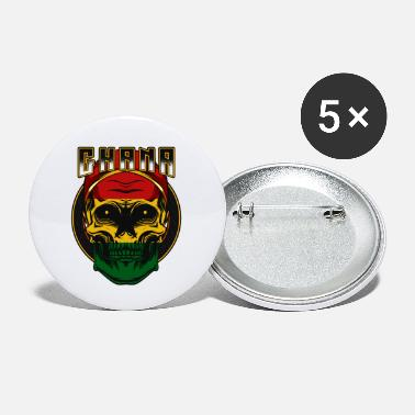 Accra Ghanaian skull Republic of Ghana Accra gift - Small Buttons