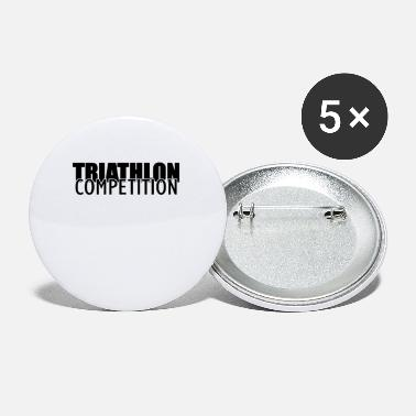 Triathlon Christmas Triathlons Triathlon Triathlon athlete Sport - Small Buttons