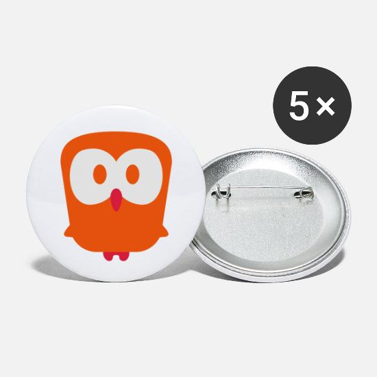 Eule Buttons & Anstecker - eule - owl - Buttons klein Weiß