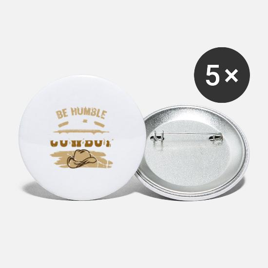 Cowboy Accessories For Men Buttons - Cowboy Life Be a Humble Cowboy - Small Buttons white