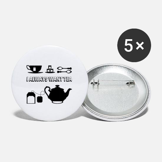 Tea Buttons - TEA - Small Buttons white