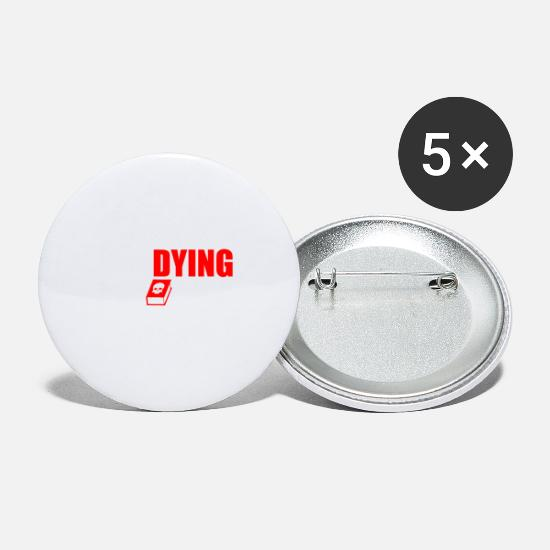 Gift Idea Buttons - Study Studying - Small Buttons white