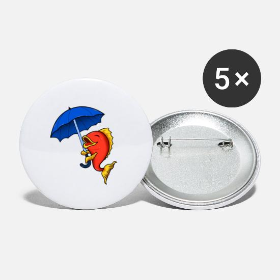Lighthouse Buttons - North German Platt saying gift · Umbrella - Small Buttons white